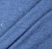 Meterware 100% Wollinterlock | jeansblau | mulesingfrei | OHNE superwash