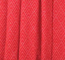 Meterware 100% Wollinterlock | rot mit Muster| mulesingfrei | OHNE superwash