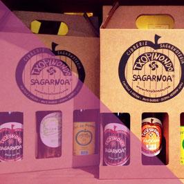 COFFRET CADEAU 3 BOUTEILLES AVEC PATXAKA