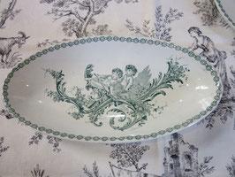 1-37   フランス天使、楕円プレート、トリアノン窯sold out