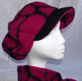 Damenmütze lila-schwarz