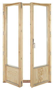 Parfönsterdörr 12x20 Helglas (bild med bröstning)