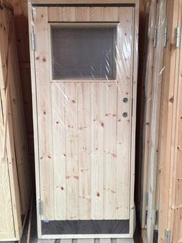 """Dörr 8x18,6 med fönster """"Rektangel"""""""