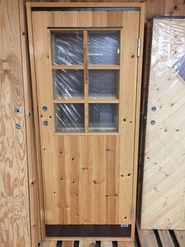 """Dörr 8x18,6 med fönster """"Spröjs"""""""