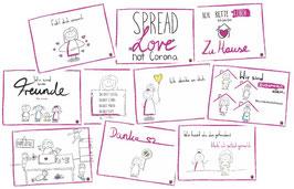 Postkarten-Set (20 Stück, 10 Motive)