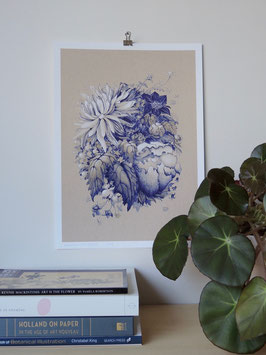 Giclée print - Medallion with Dahlias