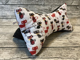 Leseknochen mit Katzen in Schwarz/Rot
