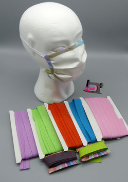 Behelfsmaske aus Evolon, gegen Milbenallergene, atmungsaktiv, Mund-Nase-Maske
