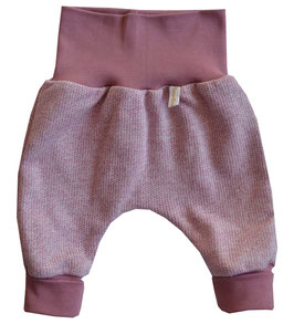 Newborn-Hose Ökostrick rosa