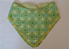 Baby Wendehalstuch Oriental grün gelb