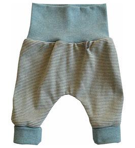 Newborn-Hose Ringel oliv/offwhite