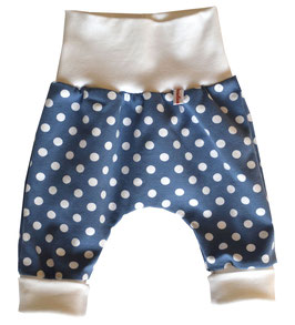 Newborn Hose Punkte blau/weiß