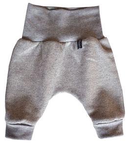 Newborn-Hose Ökostrick grau