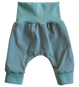 Newborn-Hose Ringel Aqua