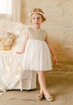 Robe Stella - Or - Collection Les Petits Inclassables