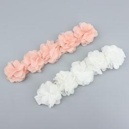Bandeau bébé petites fleurs en tissu