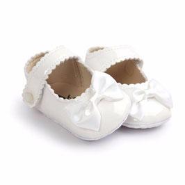 Chaussons blanc ivoir de cérémonie