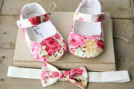 Chaussures bébé + headband assorti