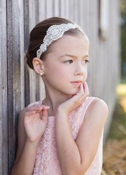 Bandeau strass et perles 3/6 ans