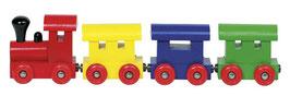 Petit train en bois magnétique