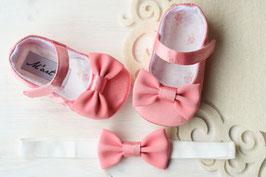 """Ensemble chaussures et noeud papillon + boîte souvenir """" ROSE """""""