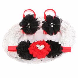 Fleurs de pieds Minnie + headband
