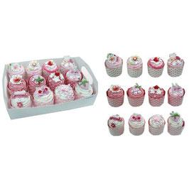 Boîtes à dragées cupcakes roses