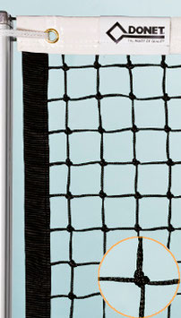 Tennisnetz DIN EN 1510 ohne Doppelreihen - Gurteinfassung auch Seitlich/Unten