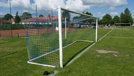 1 Paar Fußball Tornetze - 7,50 x 2,50 m - Tiefe: 0,80/1,50 m