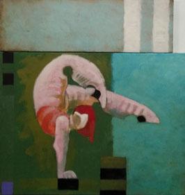 """ Acrobata "" Manolo Jurdao Valderrama - Mitglied bei Artists in Residence - Mijas Pueblo"