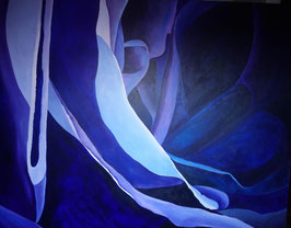 """ Blue Rose "" Ute Seidel - Mitglied bei Artists in Residence - Mijas Pueblo"