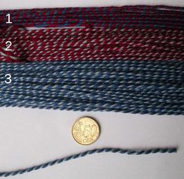 gedrehte Schnur aus Wolle 3mm