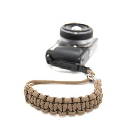 DSPTCH : CAMERA WRIST STRAP - COYOTE  / STAINLESS STEEL