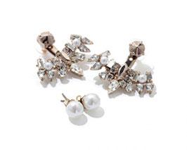 珍珠鑽造型替換耳環
