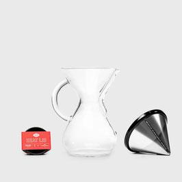 COFFEE SET :  CHEMEX + KONE - 手沖壺 / 不鏽鋼濾網 / 矽膠保溫塞