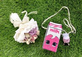 草莓牛奶盒包