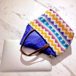 GHERARDINI ANISA 雙面幾何手提袋 紫