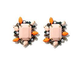 粉色民族造型耳環