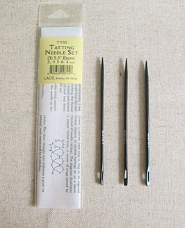 "TT80『TATTING NEEDLE SET ""EBONY""(3,3.5,4㎜)』 LASIS"