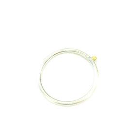 Ring *Silber* Goldkugel 1.5