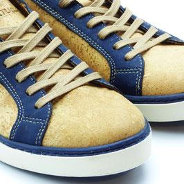 Basket en liege contour bleu