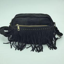 Petit sac noir à frange