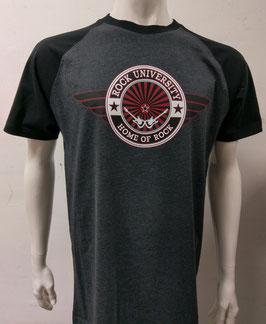 Rock University Baseball T-Shirt dark grey