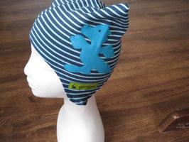 Mütze türkis-blau mit Drache