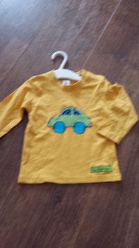 Langarmshirt gelb mit Auto
