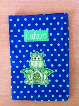 U-Hefthülle Drache grün/ blau