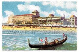 Alte Künstler Postkarte VENEDIG VENEZIA LIDO Grand Hôtel Excelsior dal Mare - um 1910