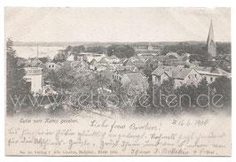 Alte Postkarte EUTIN vom Kamp gesehen