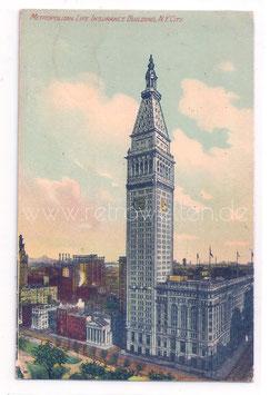 Alte Postkarte NEW YORK CITY Metropolitan Life Insurance Building Hochhaus