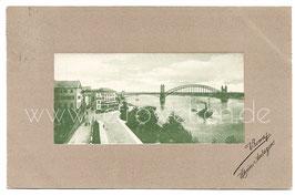 Alte Passepartout Postkarte BONN Rheinanlagen 1909